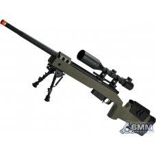 6mmProShop PDI Custom Upgraded USMC M40A5 Bolt Action Airsoft Sniper Rifle (Model: OD Green)