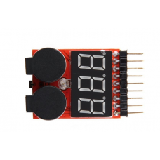 1-8cell Lipo/Li-ion/Fe Battery Voltage 2 IN1 Tester / Low Voltage Alarm