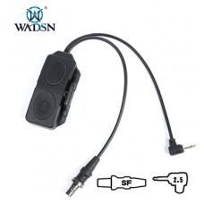 Wadsn Dual Plug Remote Pressure Switch for PEQ/Laser Devices and Scout Style Tac Lights - Black