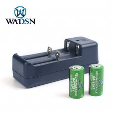 2X cr123a / 16340 3.7v Rechargeable Lithium Battery With Charger
