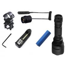 tactical flashlight + Remote Pressure Switch CREE XM-L2