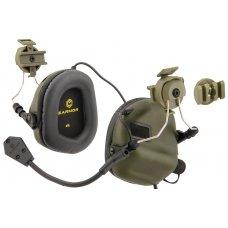 Earmor M32H MOD3 Tactical Headset for Fast Helmet (Foliage Green)