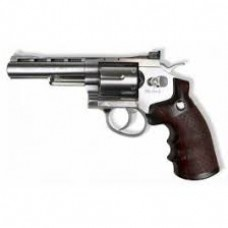 "WinGun CO2 Revolver (Length: 4"" / Chrome)"