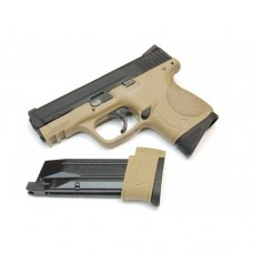 WE M&P COMPACT TAN /W EXTENDED BARREL