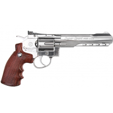 "WinGun CO2 Revolver (Length: 6"" / Chrome)"