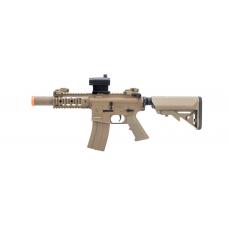 "Colt Licensed Elite Line M4 AEG by Cybergun (Model: M4 SBR w/ 5"" Quadrail / Tan)"