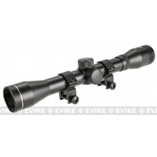 Aim 4x32 Fixed Magnification Tactical Rifle Scope w/ Scope Ring