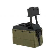 A&K M249 Box Magazine With Upgraded High Strength Motor (1500rd) (OD Green)