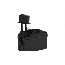 A&K M249 Box Magazine With Upgraded High Strength Motor (1500rd) (Black)