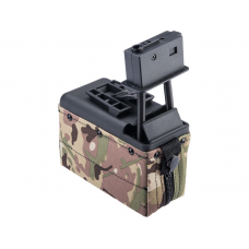 A&K M249 Box Magazine With Upgraded High Strength Motor (1500rd) (Multicam)