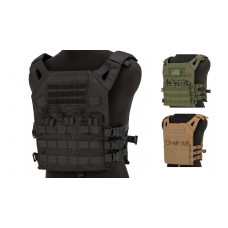 Matrix Level-1 Plate Carrier with Integrated Magazine Pouches (OD, Tan, or Black)