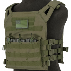 Matrix Level-1 Plate Carrier with Integrated Magazine Pouches (OD)
