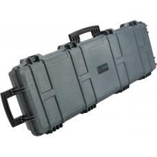 """EMG Transporter Lockable 42"""" Hard Case w/ Low-Profile Wheels & PnP foam (Color: Wolf Grey)"""