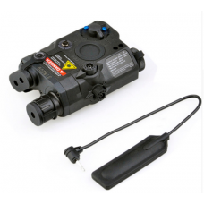 WADSN PEQ with red laser flashlight and IR laser (Black)