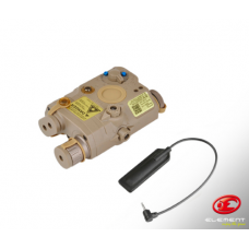 WADSN PEQ with red laser flashlight and IR laser (Tan)